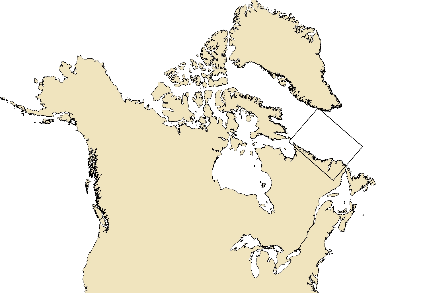 Region area for the product Daily Ice Chart - Labrador Coast