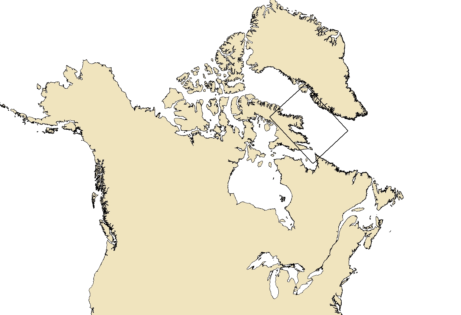Region area for the product Daily Ice Chart - Davis Strait