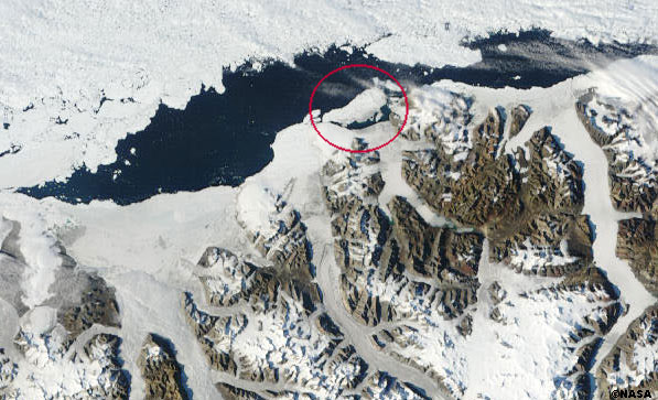 MODIS image of Ellesmere Island and Ayles Ice Shelf